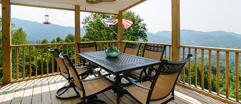 Outdoor Dining with a View of NC Mountains