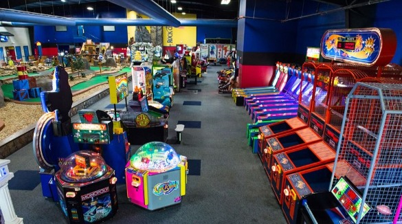 Arcade Games inside Fun Depot | Asheville Connections