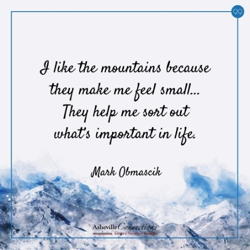mountain climbing quote image | Asheville Connections