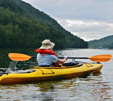 kayaking around the mountains | Asheville Connections