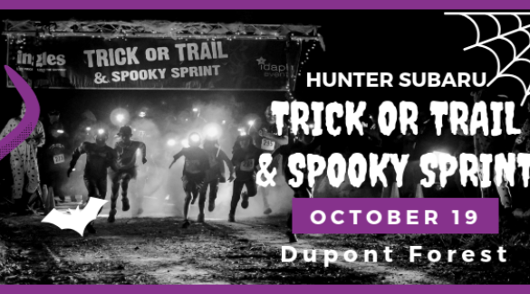 logo for trick or trail 5k | Asheville Connections