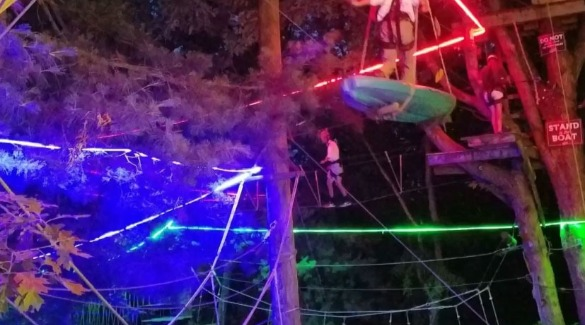halloween treetop course at Asheville Adventure Center | Asheville Connections