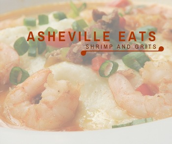 Asheville Eats Shrimp and Grits Social Sharing Image