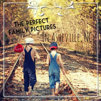 Family pictures on historic railroad tracks, Asheville, NC