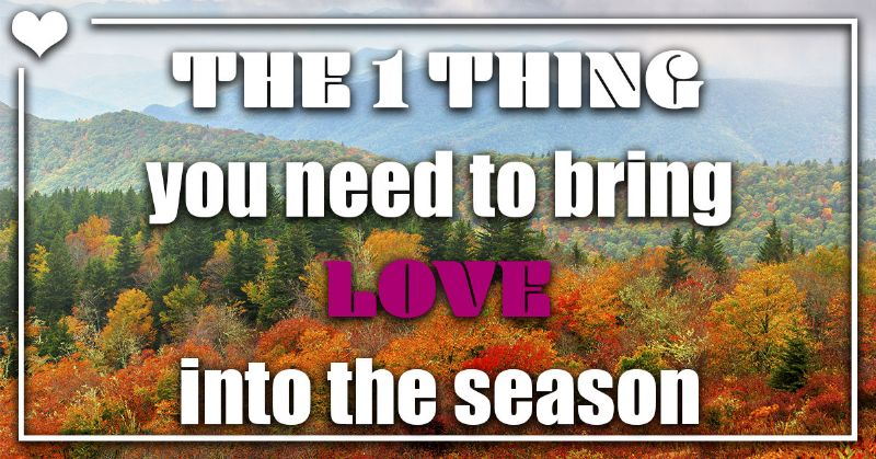 The 1 Thing You Need to Bring Love Into the Season