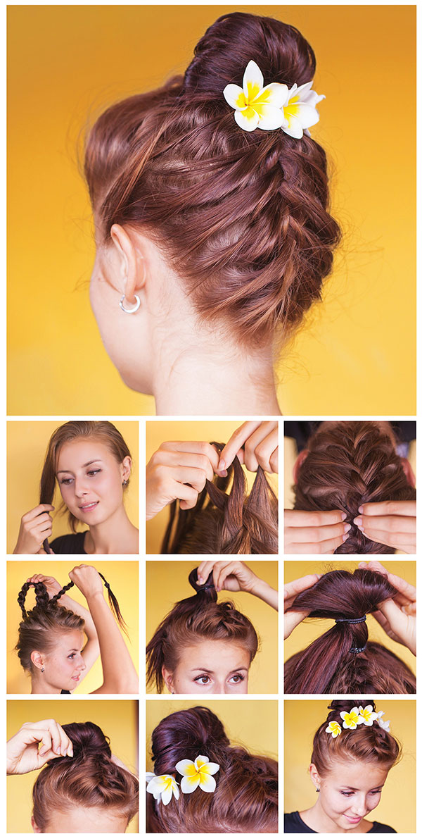 Braided Topknot Updo