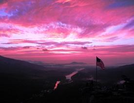 Chimney Rock State Park Sunrise