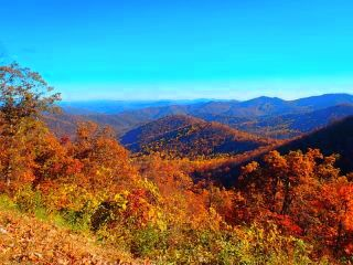 Fall Mountain Colors in Western NC Photo by Denise Knoppel