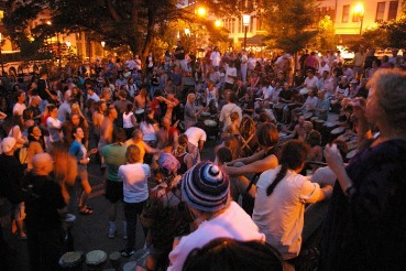 People in Drum Circle | Asheville Connections