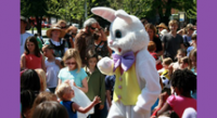 Easter Bunny at Easter on the Green