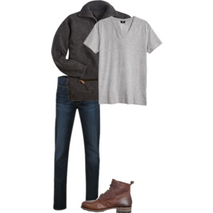 Men's Layerd Outfit for Fall Trip to Asheville