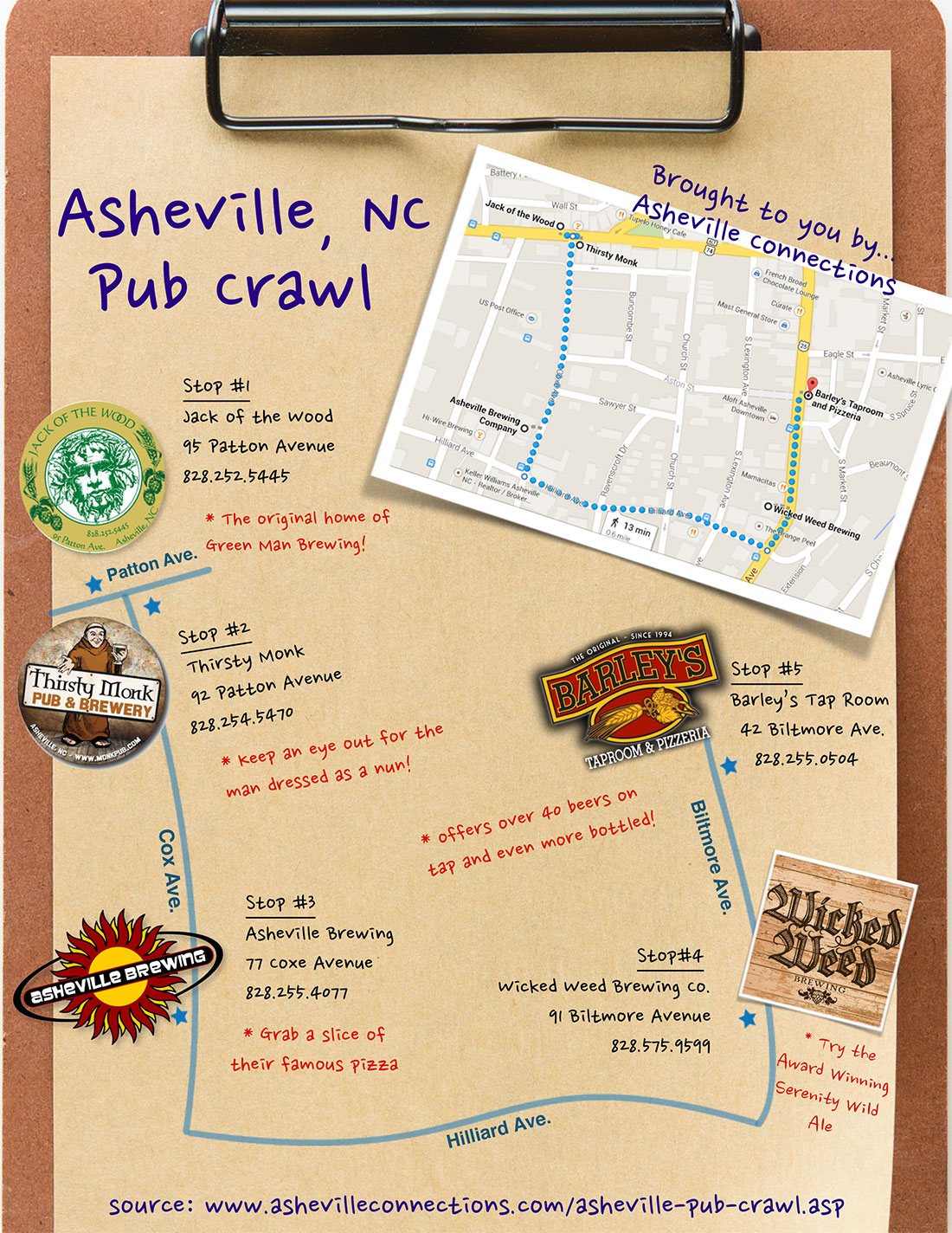 on downtown asheville map